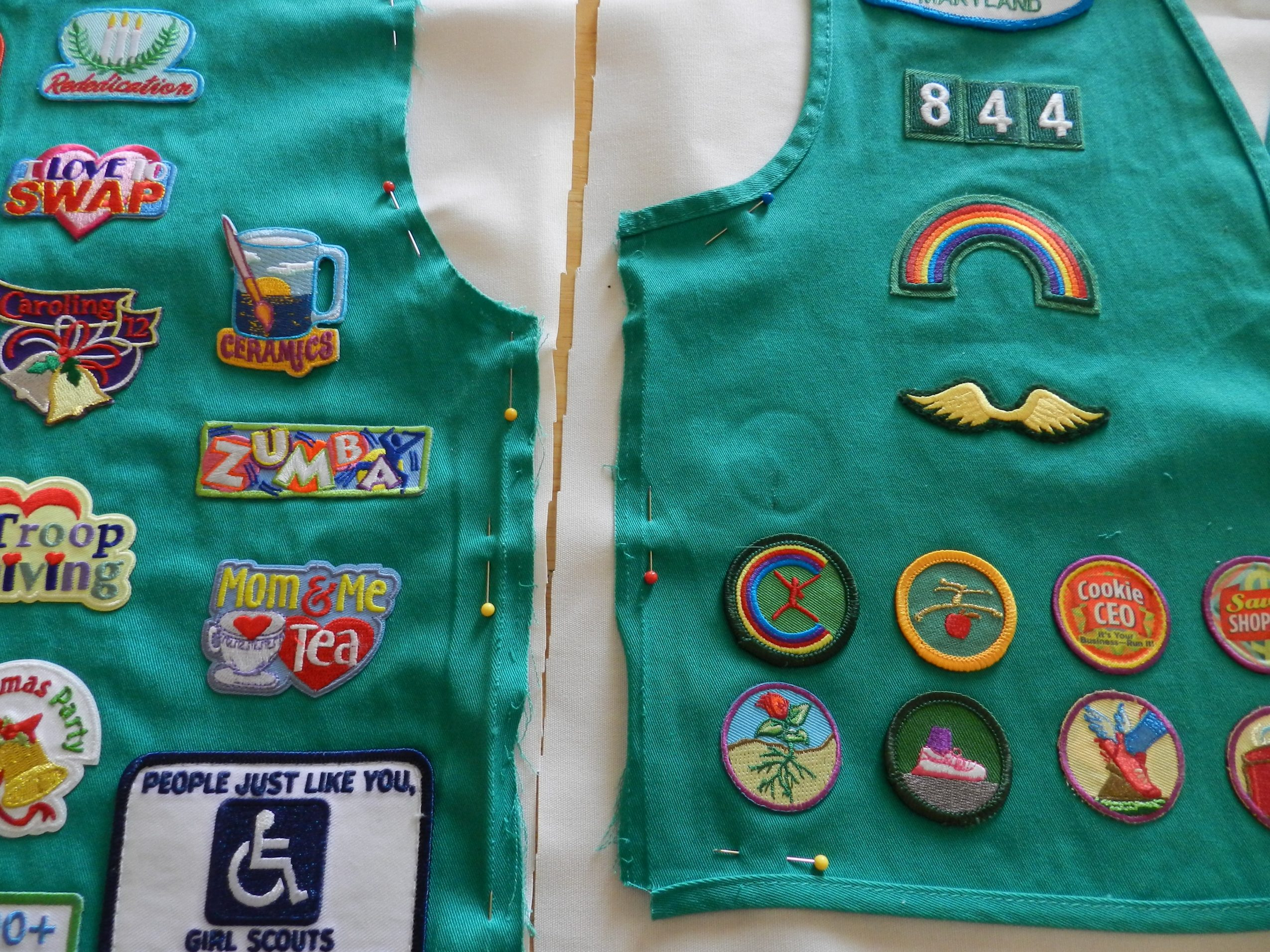 Worksheet Brownie Vests turn your girl scouts vest into a pillow pillow
