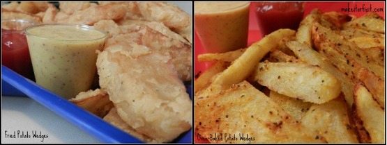Fried and Baked Potato Wedges