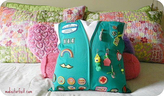 Girl Scouts Vest Pillow!