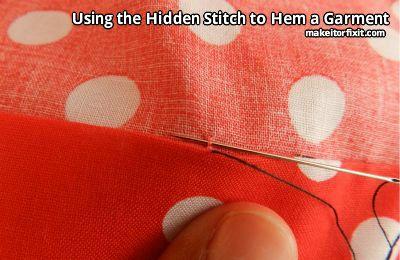 Using the Hidden Stitch to Hem a Garment