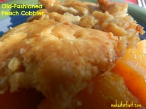 Old-Fashioned Homemade Peach Cobbler