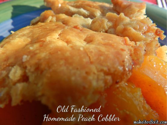 Permalink to Old Fashioned Peach Cobbler With Canned Peaches