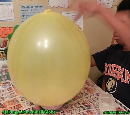 Making a Punch Ball Globe