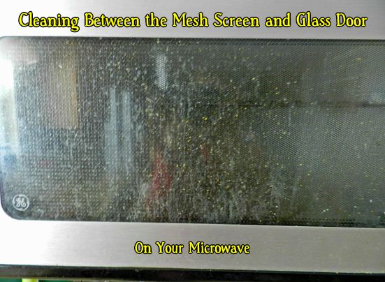 Cleaning Between Glass Door and Mesh Screen on Your Microwave