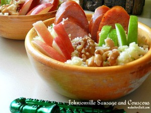 Johnsonville Sausage and Couscous with Apples