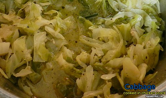 Cabbage with Chicken Stock