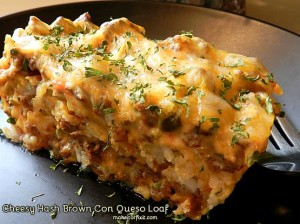 Cheesy Hash Brown Con Queso Loaf