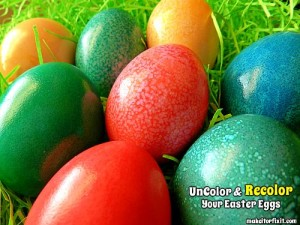 Uncolor and Recolor Your Easter Eggs