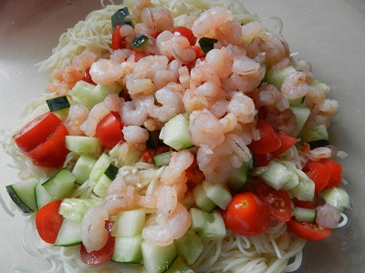 Angel Hair Summer Pasta Salad