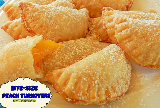 Bite-Size Peach Turnovers