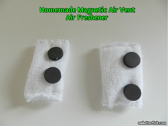 Homemade Magnetic Air Vent Air Freshener