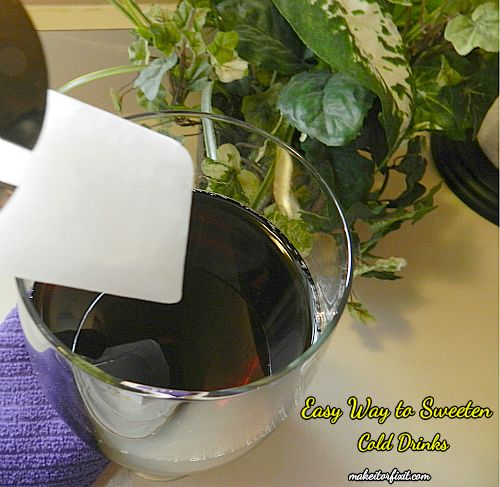 Easy Way to Sweeten Cold Drinks