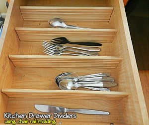 Kitchen Drawer Dividers Using Chair Rail Molding