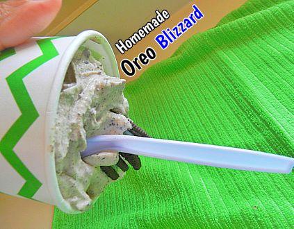 Homemade Oreo Blizzard