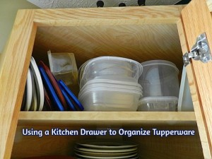 Using a Kitchen Drawer to Organize Tupperware