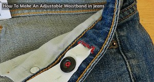 How To Make An Adjustable Waistband in Jeans